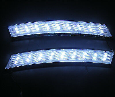 2 x 18 LED Fender Wheel Eyebrow Side White Reflector Turning Light For SUV 4WD