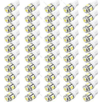 20/100x T10 5050 W5W 5 SMD 194 168 LED White Car Side Wedge Tail Light Lamp Bulb