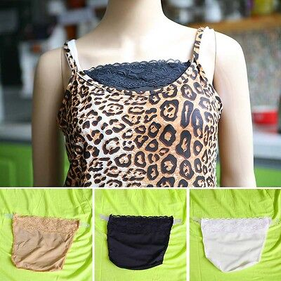 Set of 3pcs Clip On Camisoles Sexy Lace Cami Secret Modesty Panel Short Top