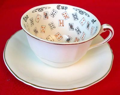 Alfred Meakin THE CUP OF KNOWLEDGE Fortune Telling Vintage Cup & Saucer England