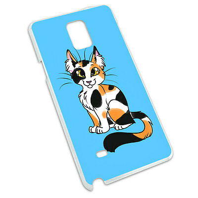 Calico Cat On Blue Snap On Hard Protective Case for Samsung Galaxy Note 4