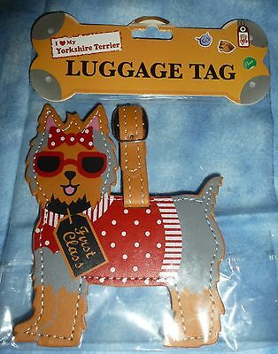 YORKSHIRE TERRIER Luggage Tag for Bags Backpacks Pet Carriers LittleGifts, Inc.