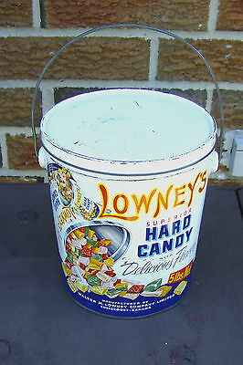 Vintage Tin  LOWNEY'S Hard Candy 5 Lbs with Handle