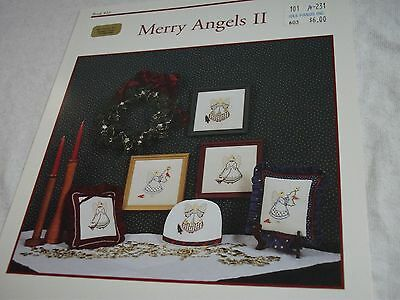 """"""" JBW Designs - Merry Angels II """" Counted Cross Stitch Pattern Booklet"""