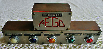 Rare 1970's Pegg Textile Dying Machine Light Control Panel
