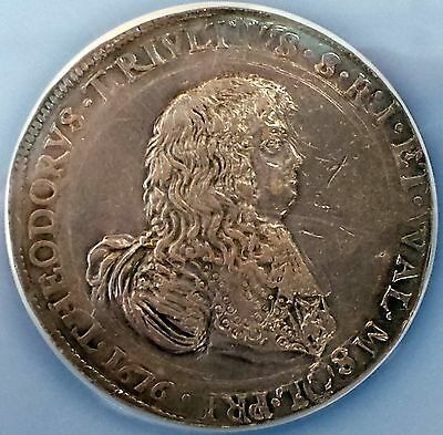 1676 Italian States, 2 Filippi, Largo, Silver coin certified AU 55 by NGC!