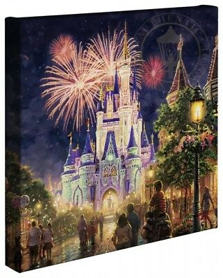 Thomas Kinkade Main Street USA 14 x 14 Gallery Wrap Walt Disney World