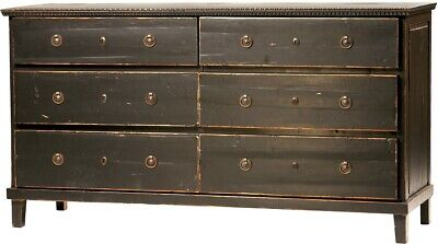"""67"""" W Dresser Reclaimed Old Wood Brass Knobs Antique Finish Vintage Classic"""