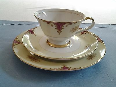 Antique China 3-Pc. Cup, Saucer and Dessert Dish
