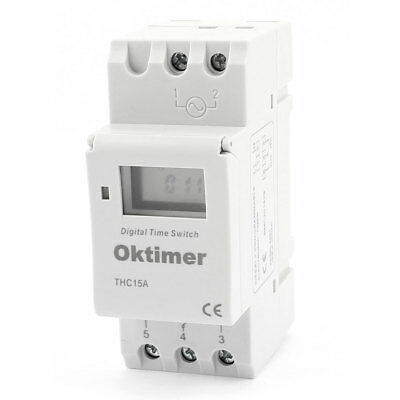 AC 220V-240V 16(8)A Time Controller LCD Display Timer Relay Switch THC15A