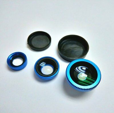 ASX(TM) Magnetic Detachable Fish-Eye Lens Wide Angle Micro Lens 3-in-1 Kits for