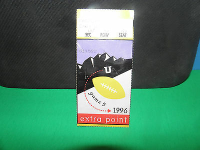 Ncaa- Byu Cougars Vs. Utah Utes 1996 Ticket Stub