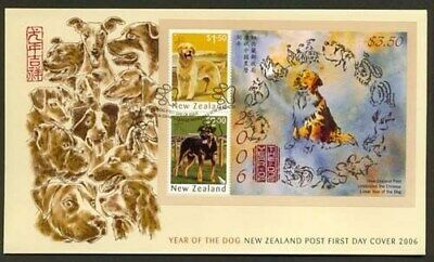 NEW ZEALAND FDC 2006 YEAR OF DOG M/S  (020:F2057)