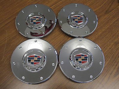 Cadillac CTS chrome wheel center caps hubcaps 2003 2004 NEW SET OF 4 color logo