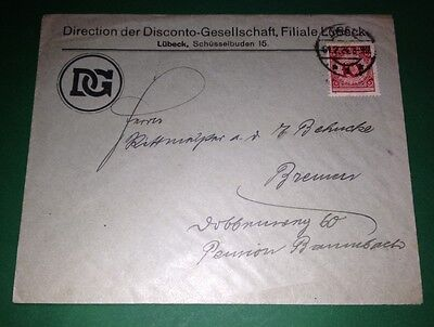#832 * Germany * 1924 * Cover with 1 stamp * We combine shipping