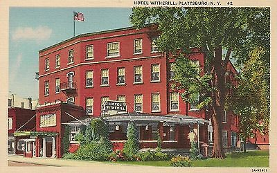 Hotel Witherill Plattsburg NY Postcard