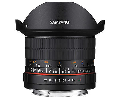 Samyang 12mm F2.8 ED AS NCS FISH-EYE Lens for Canon -Warranty