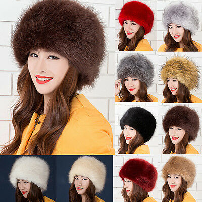 562de8ed3 DIKOAINA FAUX FUR Cossack Russian Style Hat for Ladies Winter Hats ...