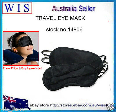 Black Travel Eye Mask,Sleep Sleeping Cover Rest Eyepatch Blindfold-14806