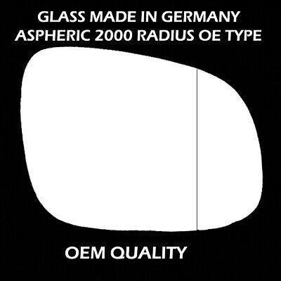 For SKODA OCTAVIA 2009-2012  Wing Mirror Glass Aspheric TAPE Right  //A018 BP