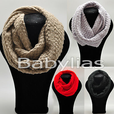 Womens Infinity Scarf Long Winter Soft Knitted Scarves Shawl Neck Wrap Fashion