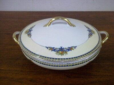 """Antique NORITAKE China Covered Vegetable Bowl with Lid SORRENTO 8.5"""" #76965"""