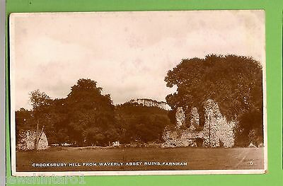 #e.   1940  Postcard -  Crooksbury Hill From Waverly Abbey Ruins, Farnham