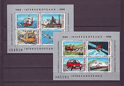 Romania - Sgms5179 Mnh 1988 Transport & Space