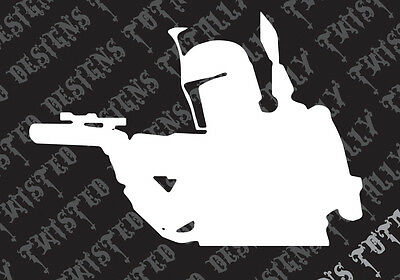 Star Wars Boba Fett 4 car truck vinyl decal sticker empire darth vader jedi yoda
