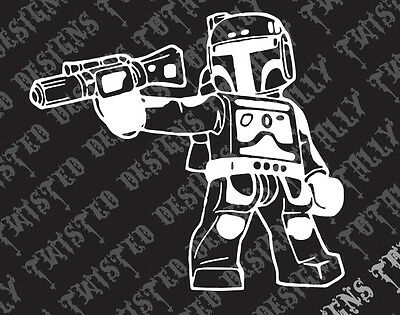 Star Wars Boba Fett Lego car truck vinyl decal sticker empire darth vader jedi