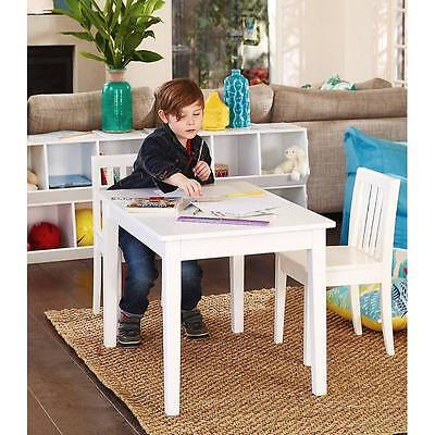Hip Kids Hunter Wooden Table and 2 White Chairs Children Toddler Furniture Set