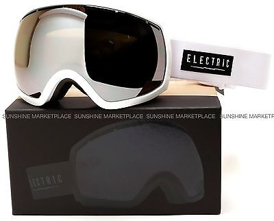 NEW 2015 Electric EG2 Goggles-Gloss White-Bronze Silver Chrome-SAME DAY SHIPPING