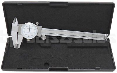 "6"" Dial Caliper Stainless Steel Shockproof .001"" Of One Inch. Precision"