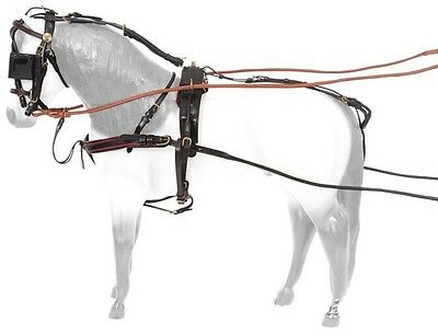 Miniature Horse Driving Harness - Silver Royal - Leather Show Driving Harness