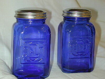 Cobalt Blue Retro Depression Salt Pepper Shaker Range