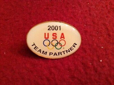 2001 USA OLYMPIC TEAM PARTNER PIN