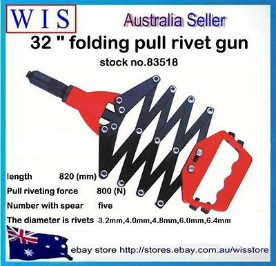 "32"" Heavy Duty Lazy Tong Folding Pop Rivet Gun Riveting Gun Riveter-83518"