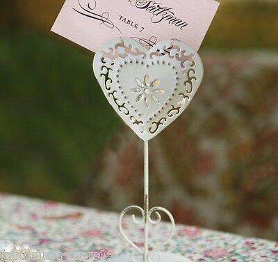 Heart Cream Shabby Chic Wedding Table Number / Name Holder Party Name Holder
