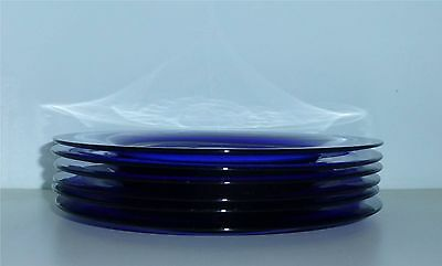 12 Pairpoint Cut Glass Coblat Blue Plates