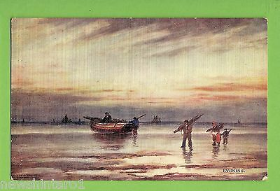 #f.   1907  Postcard -   Fishermen In The Evening