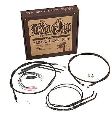 Burly 12 Ape Hanger Handlebar Cable Wire Kit for 1998-2005 Harley Dyna B30-1033