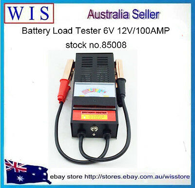 6/12V 100 Amp Battery Load Tester Alligator Clip Heavy Duty Car Truck Checker
