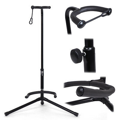 Lindo Black Guitar Tripod Floor Stand for Electric/ Acoustic/ Bass Guitars