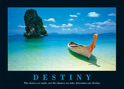 DESTINY MOTIVATIONAL INSPIRATIONAL POSTER (61x91cm)  PICTURE PRINT NEW ART