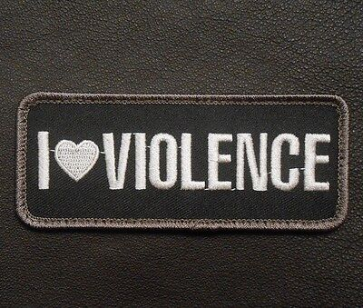 I Love Violence Tactical Combat Military Badge Swat Velcro® Brand Fastener Patch