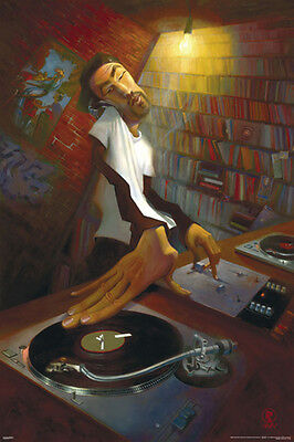 Bua The Dj Turntables POSTER (61x91cm) Picture Print New Art