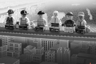 (LAMINATED) LEGO ON A GIRDER POSTER (61x91cm)  PICTURE PRINT NEW ART