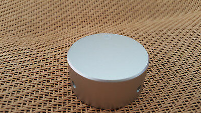 "Sanded Universal 48x22mm SOLID Aluminum VOLUME CONTROL AUDIO 1/4"" Silver KNOB"