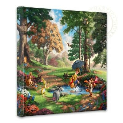 Thomas Kinkade Wrap Winnie the Pooh I 14 x 14 Gallery Wrapped Canvas Disney