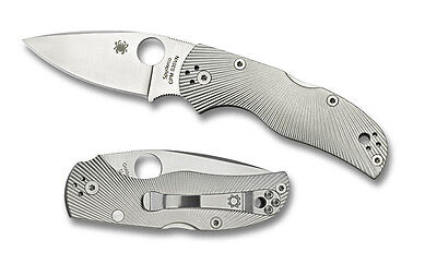 Spyderco Native 5 Knife with Fluted Titanium Handle C41TIFP5 New
